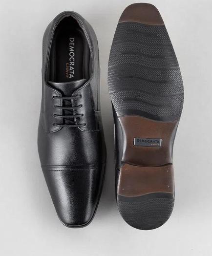 Sapato Smart Comfort Casual Vince Light Preto