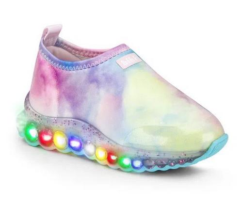 Tênis Infantil Bibi Roller Celebration de Luz Feminino Tie Dye - 1079109