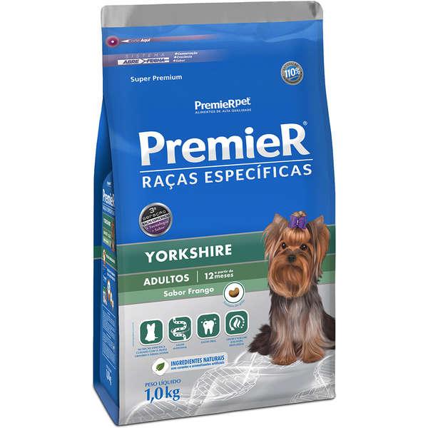 Ração Premier Yorkshire adulto 1kg