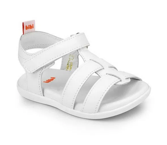 Sandália Infantil  Escolar Bibi Baby Unissex Branco - 1142027