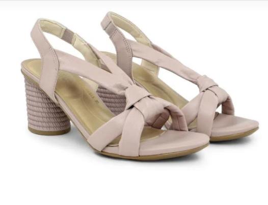 Sandália soft lilás com nó