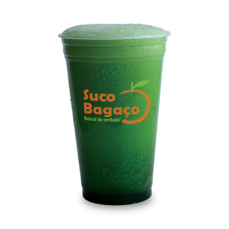Suco Verde Espinafre, Pepino, Hortelã e Água.
