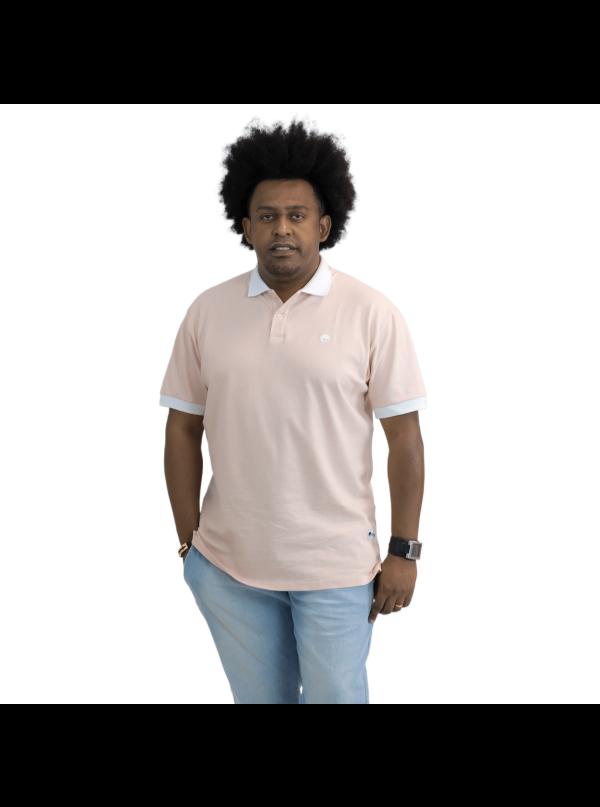 Camisa Polo Básica Salmão